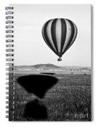 Hot Air Balloon Shadows Spiral Notebook