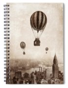 Hot Air Balloons Over 1949 New York City Spiral Notebook