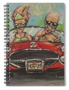 Hot Fun Corvette Spiral Notebook