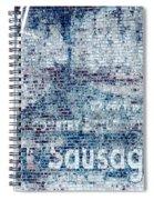 Hot Sausage Spiral Notebook