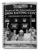 Hotdog Eating Contest Time In Black And White Spiral Notebook