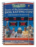 Hotdog Eating Contest Time Spiral Notebook
