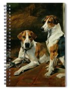 Hounds In A Stable Interior Spiral Notebook