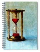 Hour Glass Dripping Blood Spiral Notebook