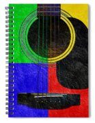 Hour Glass Guitar 4 Colors 1 Spiral Notebook
