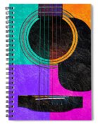 Hour Glass Guitar 4 Colors 2 Spiral Notebook