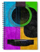 Hour Glass Guitar 4 Colors 3 Spiral Notebook