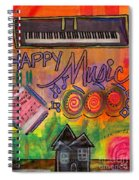 House Of Happy Music Spiral Notebook