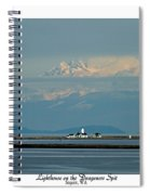 Dungeness Spit Lighthouse - Mt. Baker - Washington Spiral Notebook