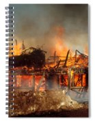 House On Fire Spiral Notebook