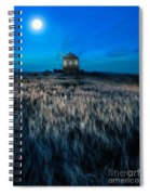 House On The Prairie Under A Full Moon Spiral Notebook