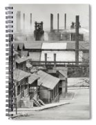 Houses And Steelmill Spiral Notebook