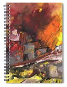 Houses In Fire Spiral Notebook
