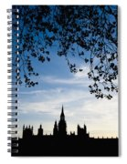 Houses Of Parliament Silhouette Spiral Notebook