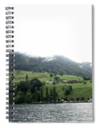 Houses On The Greenery Of The Slope Of A Mountain Next To Lake Lucerne Spiral Notebook