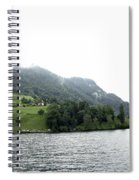 Houses On The Slope Of A Mountain Next To Lake Lucerne Spiral Notebook