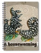 Housewarming Invitation - Black And White Chickens Figurines Spiral Notebook