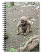 Howling Baby Monkey Spiral Notebook