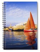 Howth, County Dublin, Ireland Sailboat Spiral Notebook