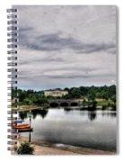 Hoyt Lake Delaware Park 0001 Spiral Notebook