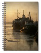 Huddled Boats Spiral Notebook