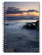 Hug Point Sunset Spiral Notebook