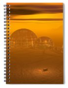 Human Settlement On Alien Planet Spiral Notebook