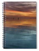 Humboldt Bay Dusk Spiral Notebook