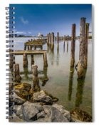 Humboldt Bay Over Darkening Skies Spiral Notebook