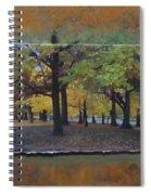 Humboldt Park Trees Layered Spiral Notebook