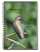 Hummingbird - Thinking Of You Spiral Notebook