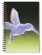 Hummingbird - Use Red-cyan 3d Glasses Spiral Notebook