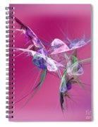 Hummingbird Fantasy Abstract Spiral Notebook
