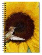 Hummingbird On Sunflower Spiral Notebook
