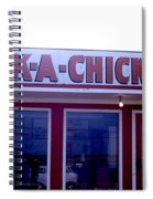 Humorous Sign For Fried Chicken Spiral Notebook
