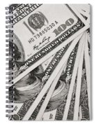 Hundred Dollar Bills Spiral Notebook