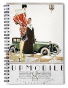 Hupmobile Ad, 1926 Spiral Notebook
