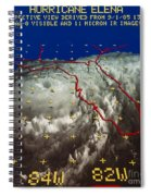 Hurricane Elena In 3-d Spiral Notebook