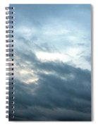 Hurricane Isaac Storm Clouds Spiral Notebook