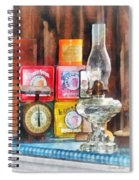 Hurricane Lamp And Scale Spiral Notebook