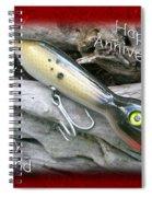 Husband Anniversary Card - Saltwater Fishing Lure - Popper Spiral Notebook