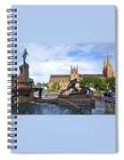 Hyde Park Fountain And St. Mary's Cathedral Spiral Notebook