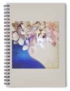 Hydrangeas In Deep Blue Vase Spiral Notebook