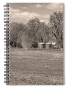 Hygiene Colorado Boulder County Scenic View Sepia Spiral Notebook