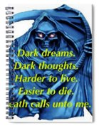 I Awoke From A Terrible Dream Spiral Notebook