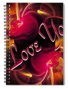 I Love You Card 2 Spiral Notebook