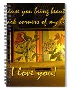 I Love You Night Graffiti Greeting Card Spiral Notebook