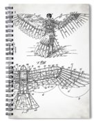 Icarus Patent 1889 Spiral Notebook