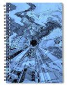 Ice Blue - Abstract Art Spiral Notebook