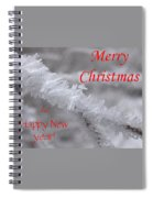 Ice Crystal Christmas Spiral Notebook